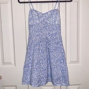 Divided H&M Floral Sundress Blue-Lavender/White